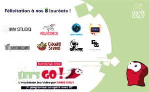 présentation des logos des lauréats de la première promotion de Let's GO 2021